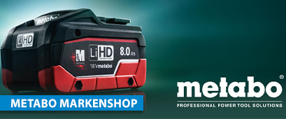 Link zum Metabo Markenshop - Metabo Professional Power Tool Solutions